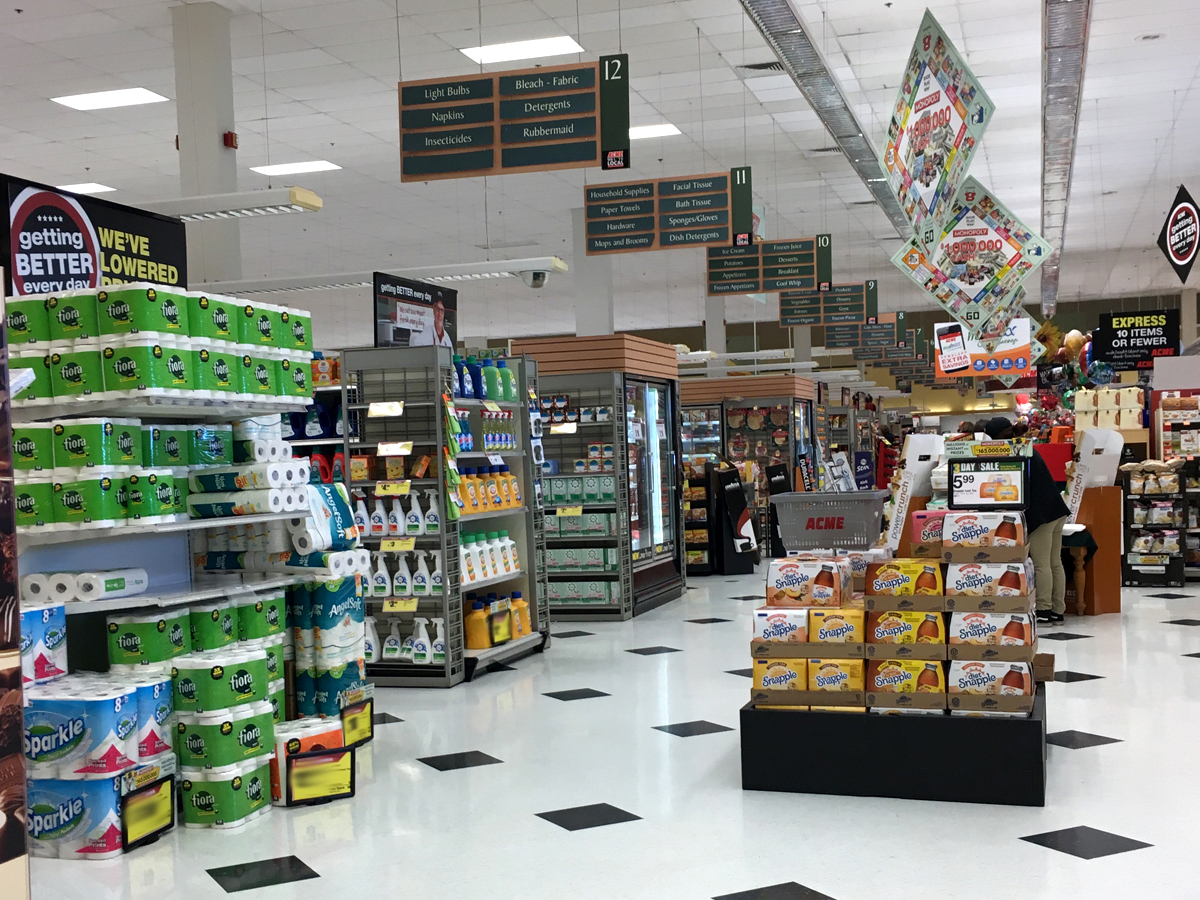 Acme style acme tinton falls new jersey the front end features the changes weve now come to expect from these very light remodels including the removal of self checkouts in lieu of additional malvernweather Choice Image