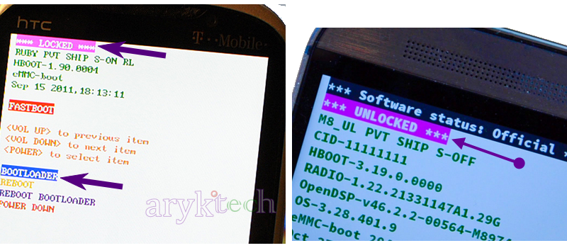 HTC Unlocked Locked Bootloader