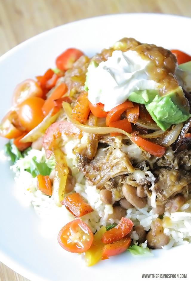 Burrito Bowl Recipe with Pork Carnitas