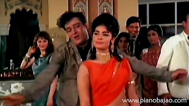 Aaj Kal Tere Mere Pyar Ke Full Piano Notes   Brahmachari 1968   Mohammed Rafi   By Pianobajao