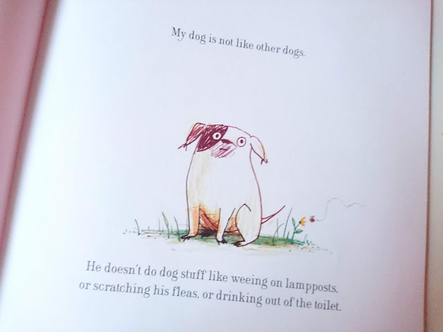The little dog in Dogs Don't Do Ballet by Anna Kemp review on US Two Plus You
