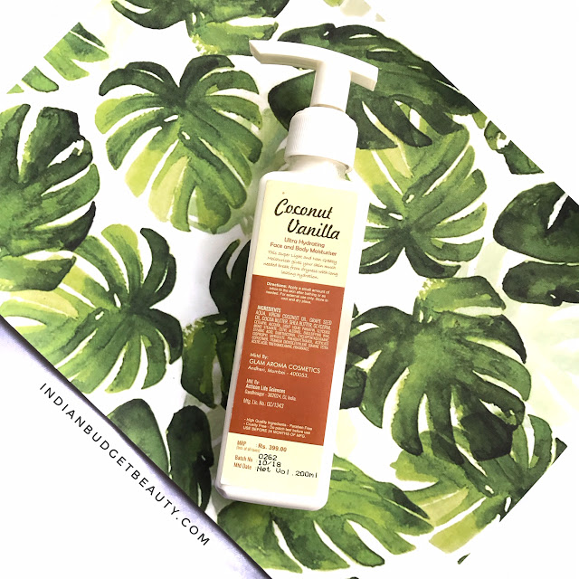 Glamaroma Coconut Vanilla Moisturizer Review