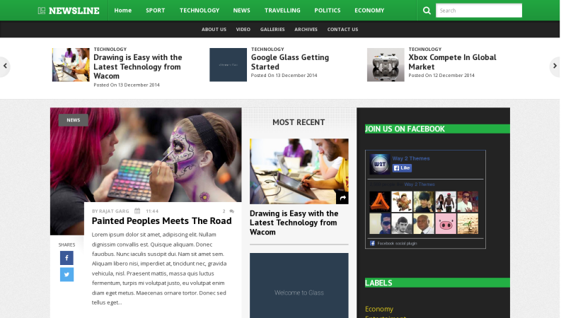 Newsline Blogger Template