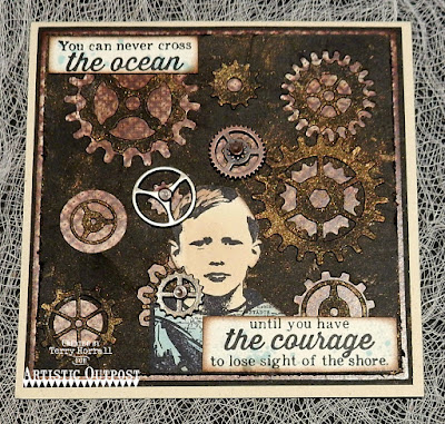 Artistic Outpost Stamp Set: The Captain, Vagabond Treasures Paper Collection, Dies: Steampunk Gears