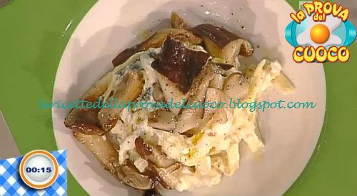 Tagliatelle con ricotta e cardoncelli grigliati ricetta Bottega da Prova del Cuoco