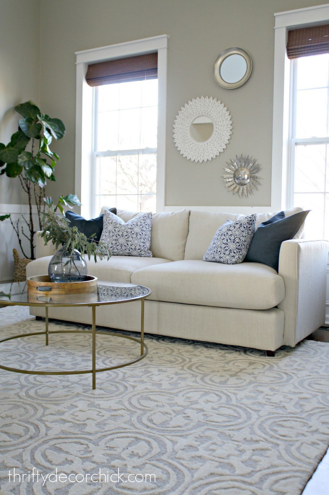 Help Me Design My Living Room: One Sofa Or Two? Help Me Decide! From Thrifty Decor Chick