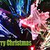 Kerst wallpaper met kerstverlichting en tekst Merry Christmas
