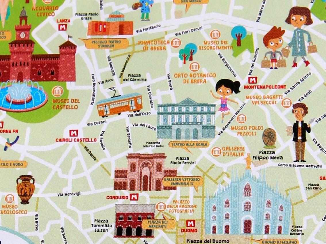 Cartina Di Milano Per Bambini.Urbanfile Milano Segnalazione La Prima Mappa Di Milano Per I