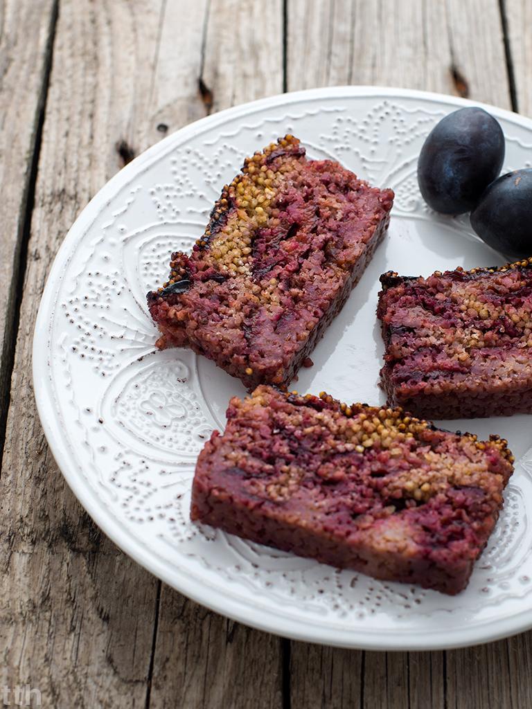 ciasto kasza jaglana wegańskie śliwki bezglutenowe blog przepis