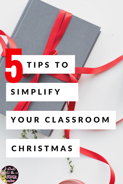 Looking for some simple classroom Christmas ideas to help save your sanity this December? Try one of these 5 teacher tested tips to simplify your classroom Christmas! Includes student gift ideas, tips to simplify your classroom holiday party, and FREE Christmas themed printables you can use for centers, fast finishers, or holiday choice activities. Perfect for 2nd, 3rd, or 4th grade classrooms this Christmas! #christmas #education #classroomchristmas #freebie #studentgifts