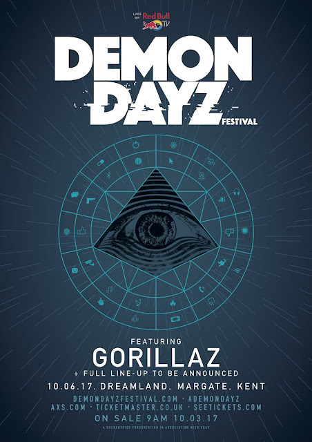 Gorillaz Announce First Live Show of 2017, Gorillaz tour 2017, gorillaz live 2017, demon dayz festival gorillaz, demon dayz festival 2017, gorillaz tickets 2017, gorillaz world tour 2017, new gorillaz album 2017,