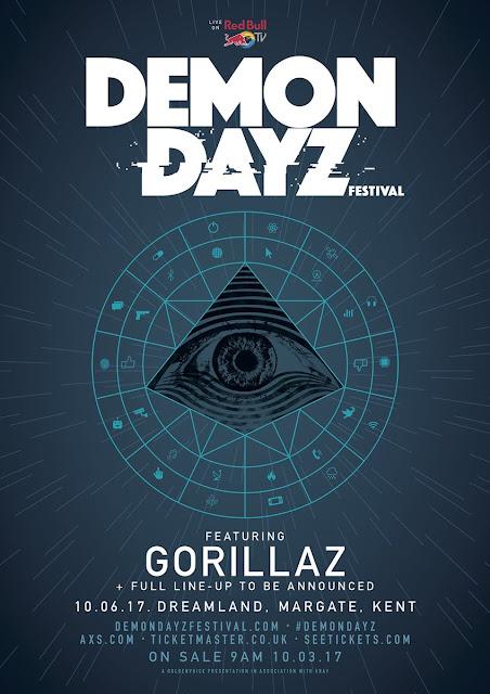 Gorillaz Announce First Live Show of 2017, Gorillaz tour 2017, gorillaz live 2017, demon dayz festival gorillaz, demon dayz festival 2017, gorillaz tickets 2017, gorillaz world tour 2017, new gorillaz album 2017,