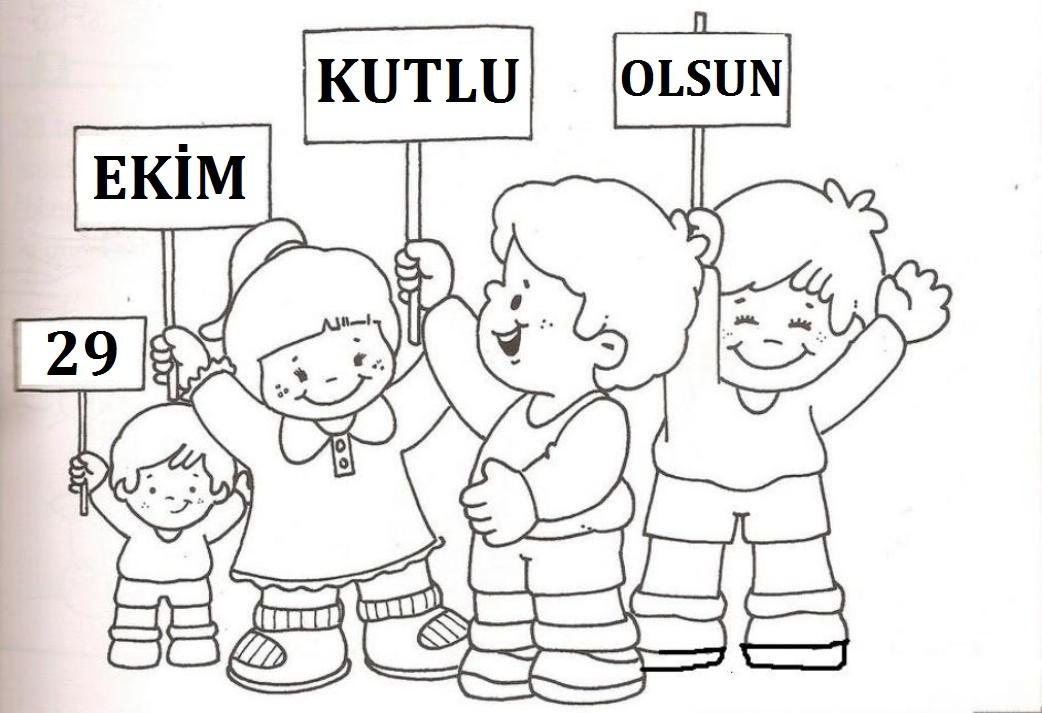 29 Ekim Cumhuriyet Bayramı Boyama Sayfaları Dersteknikcom