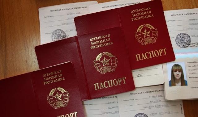 Os novos passaportes de Lugansk!