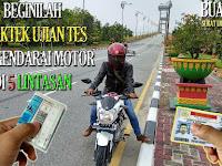 Tips Trik Rahasia Cara Lulus Praktek Ujian Tes Mengendarai Motor di 5 Lintasan Saat Membuat SIM di Riau