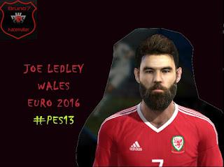 Face Joe Ledley - Wales NT Pes 2013