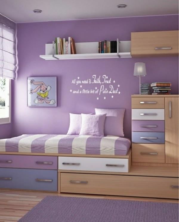 cuarto para adolescente color lila