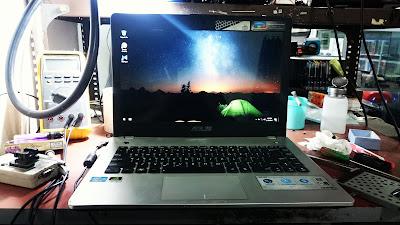 service laptop asus n46sv tidak tampil di malang
