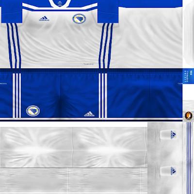 PES 6 Kits Bosnia and Herzegovina National Team Season 2018/2019 by WindowOp Kitmaker