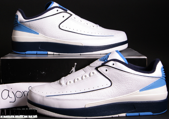 brand new 3383f 814bb Air Jordan II Retro Low White Midnight Navy-University Blue (2004)
