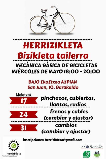 Cartel del taller de bicicletas