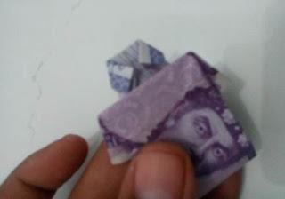 Gambar gb18 origami uang kertas 10000 bentuk baju