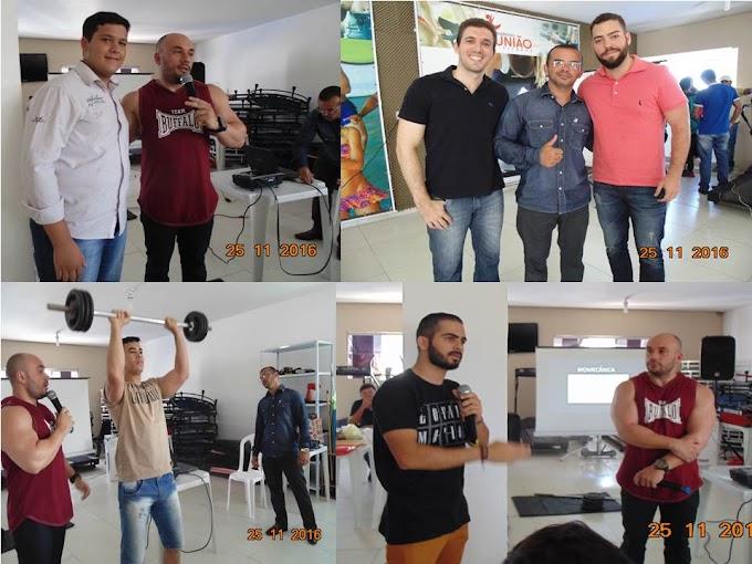 Imagens do II encontro de Educação física que aconteceu hoje na academia União em João Câmara.