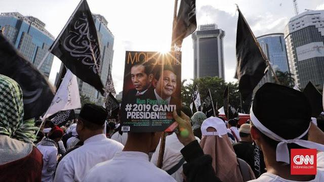 Nyanyian 'Prabowo Gagah dan Kuat' Bergema di Aksi Bela Tauhid
