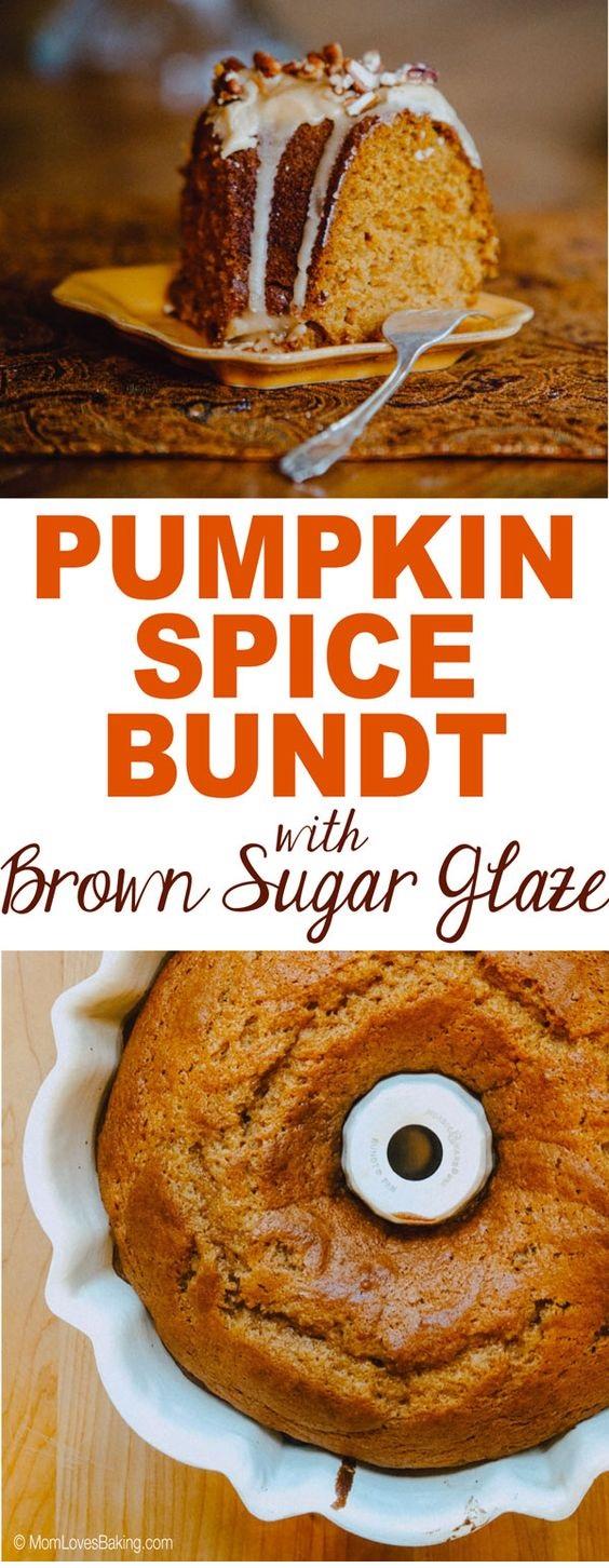 Pumpkin Spice Bundt Cake With Brown Sugar Glaze