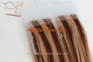 European hair piano color tape hair extensions