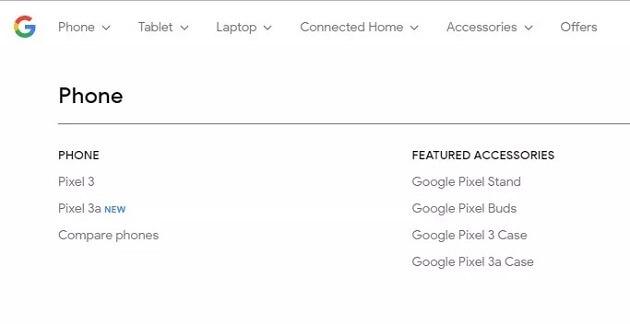 جوجل تكشف عن طريق الخطأ عن هاتف Pixel 3a قبل الإعلان الرسمي