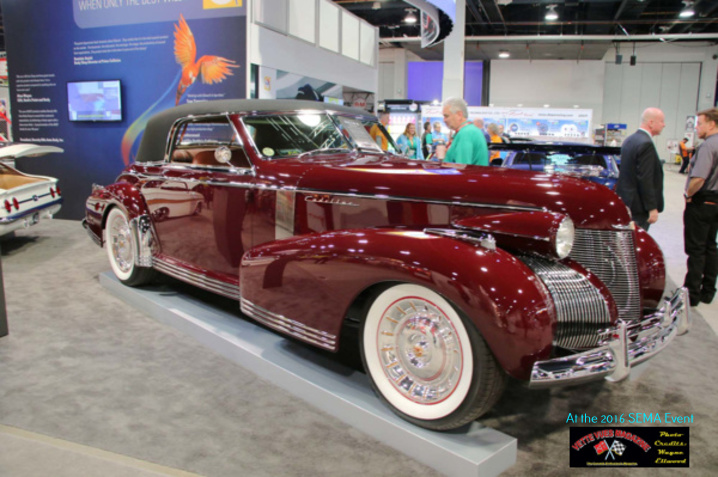 1939 Cadillac 60 Special four door whose running gear is sourced from a 2015 C7 Corvette chassis and powerplant.