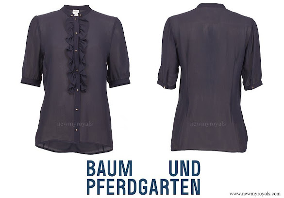 Crown-Princess Victoria wore Baum und Pferdgarten Mavis Silk Blend Blouse