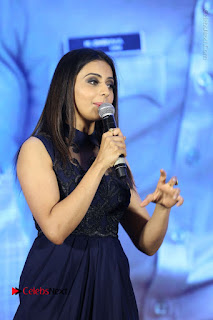 Actress Rakul Preet Singh Stills in Beautiful Blue Long Dress at Dhruva Salute to Audience Event  0061.JPG