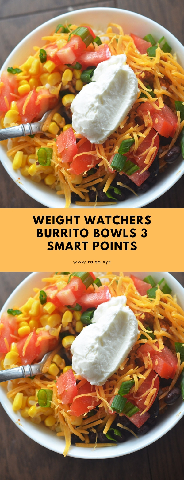 WEIGHT WATCHERS BURRITO BOWLS 3 SMART POINTS #weightwatchers #breakfast #lunch