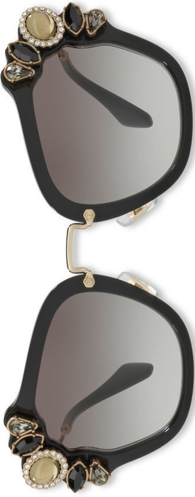 Miu Miu 51MM Crystal-Embellished Square Sunglasses