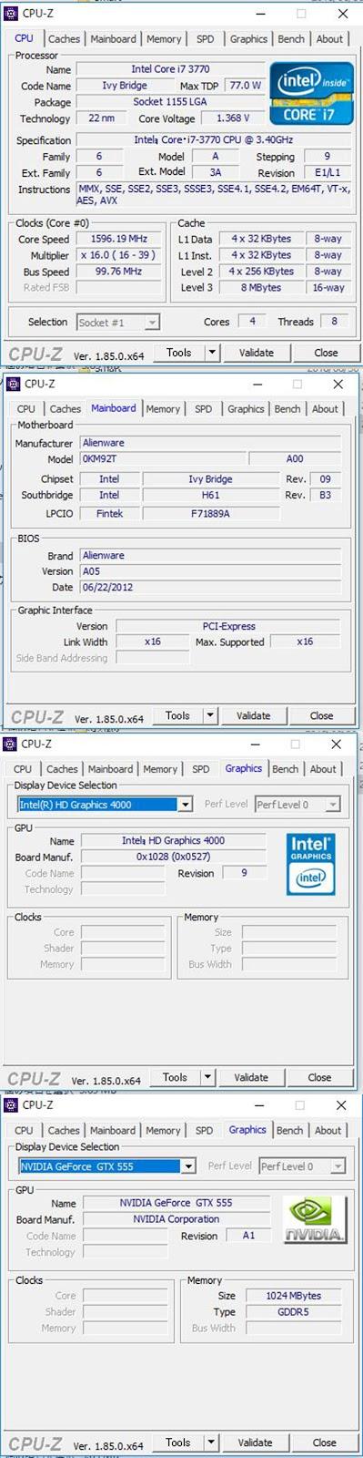 中古】ALIENWARE X51 / Core i7 3770 / メモリー8GB / 1TB HDD