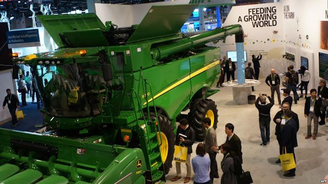 Deere Puts Spotlight on High-tech Farming.