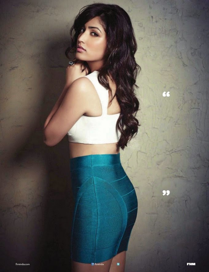 Yami Gautam in tight skirt in FHM India Magazine