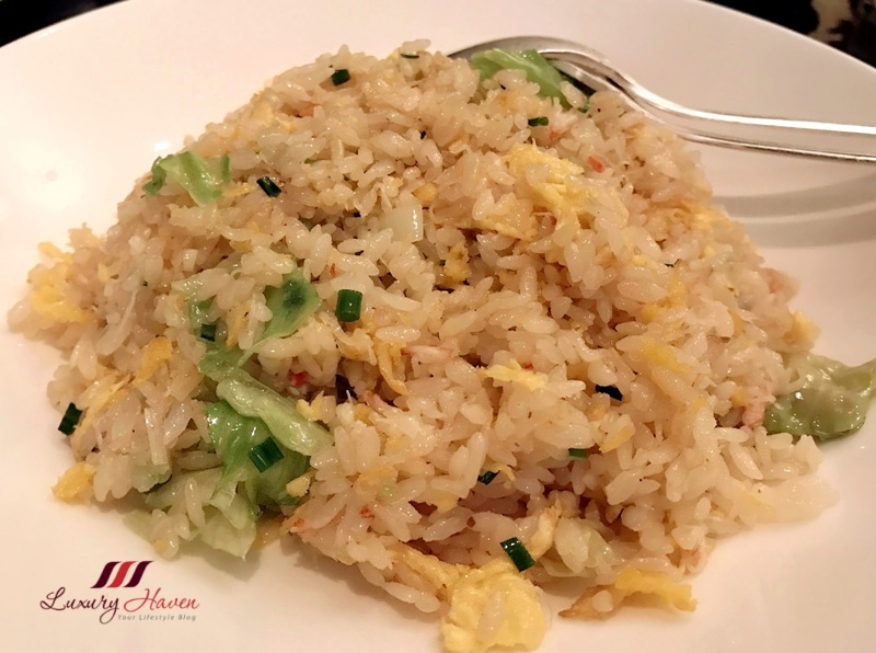 hilton tokyo dynasty restaurant delicious crabmeat fried rice