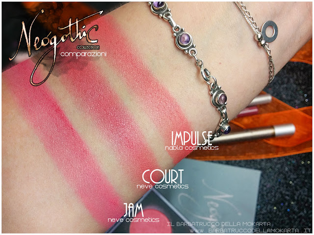 court comparazioni neogothic collection neve cosmetics