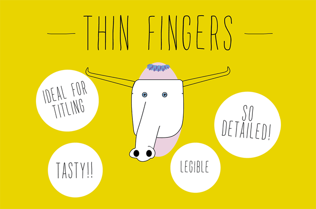 Thin Fingers Free Font