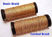 Some colors of Kreinik Braids are thicker than basic colors due to the raw materials