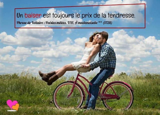 Citation sur le baiser amoureux parmi les plus belles phrases d'auteurs