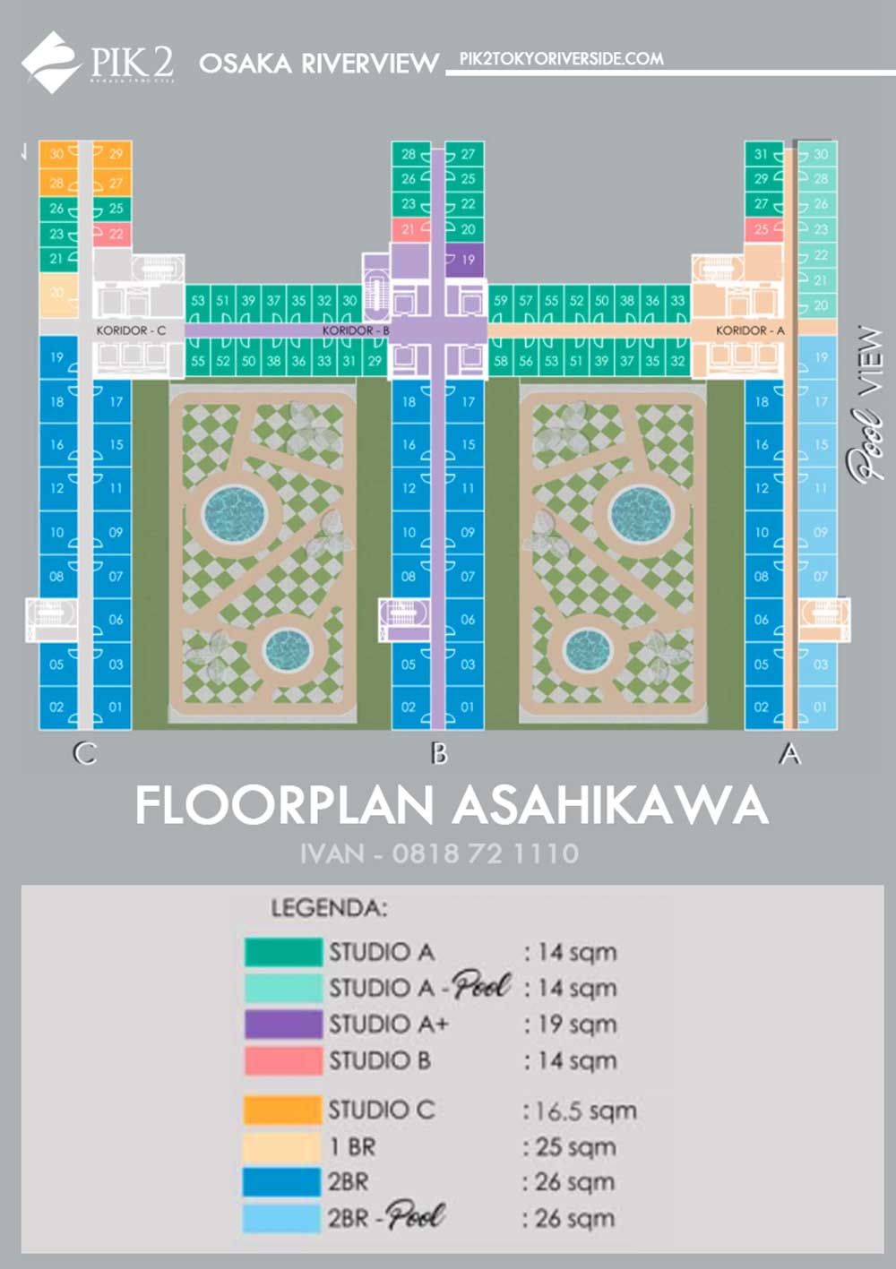 floor plan apartemen pik 2 osaka riverview