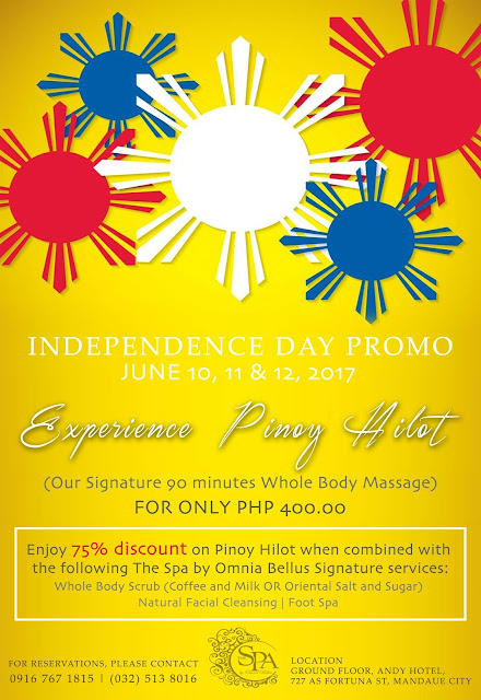 Independence Day Promo at The Spa By Omnia Bellus