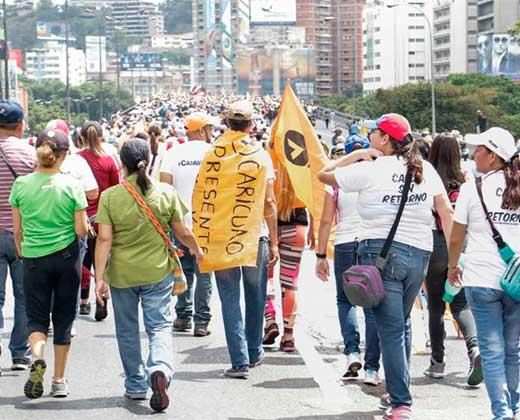 Marcha opositora del #19Abr partirá desde 26 puntos de Caracas