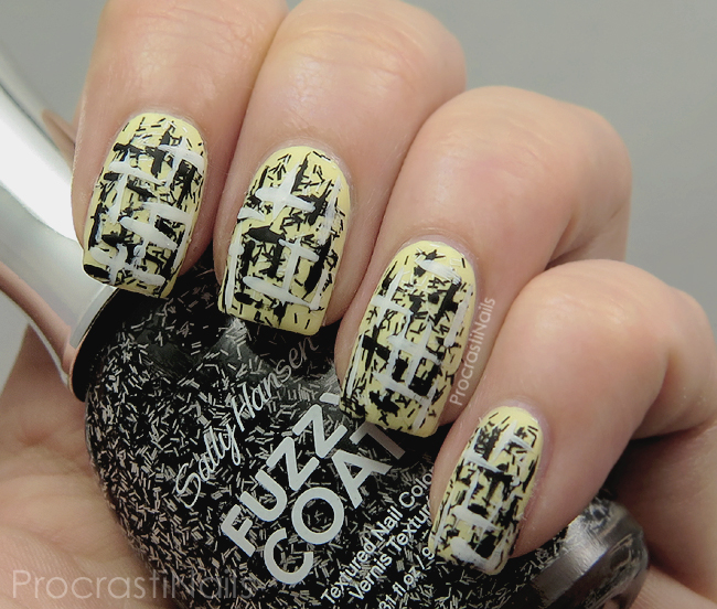 Nail Art Tweed Nails Featuring Bar Glitter For Tweed Day