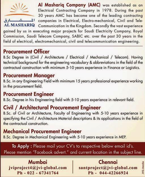 Al Mashariq Company Jobs for SABIC Saudi Telecoms & Saudi
