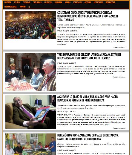 VISOR BOLIVIA cumplió este fin de gestión 3 años y 3 meses informando al país